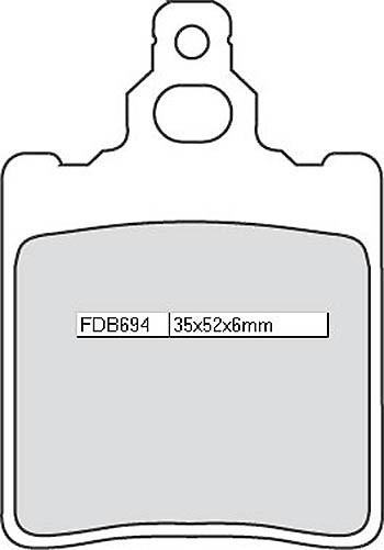 FERODO Sinter disc brake pad FDB 694 ST