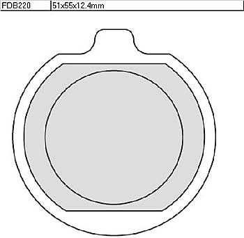 FERODO Disc brake pad FDB 220 P