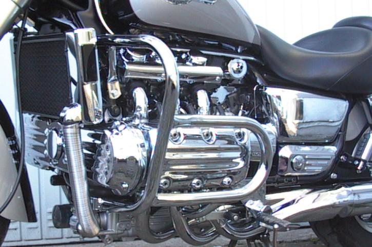 FEHLING Crash bar, 2 parts, with cylinder head protection, HONDA F6C