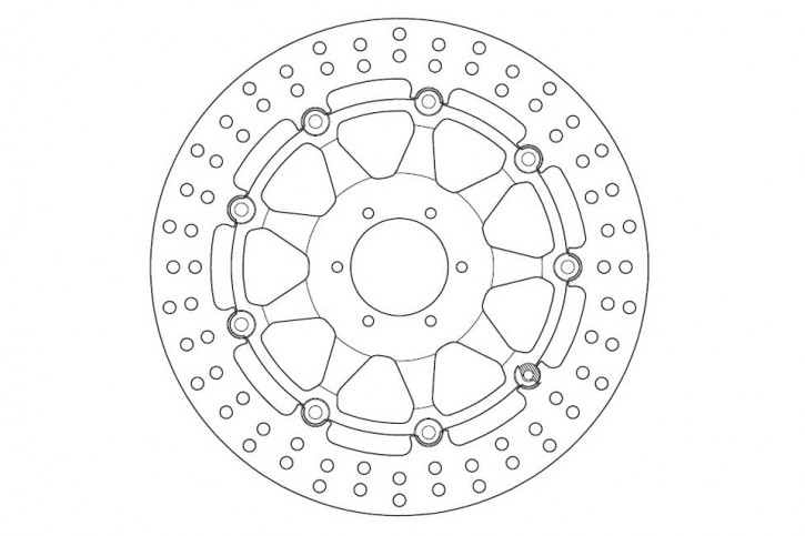 FERODO Brake disc FMD0130 RX