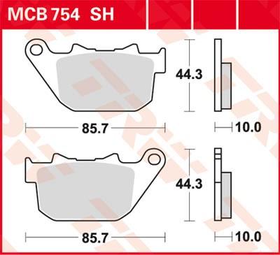 TRW Lucas Sinter disc brake pad MCB754SH