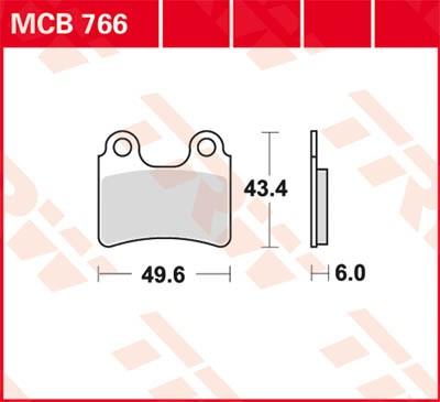 TRW Lucas Bremsbelag MCB766