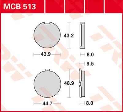 TRW Lucas Bremsbelag MCB513