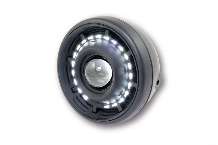 "ellipsoid HEADLIGHT, high- and low beam, LED front position ring, ""e""-marked"