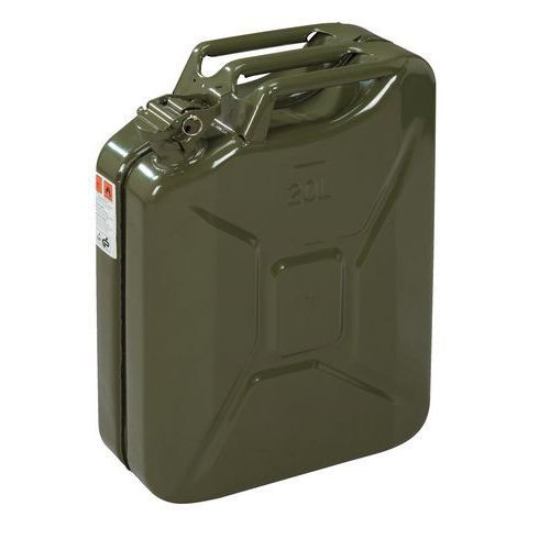 JERRYCAN, can made of metal, 20 litre, army green