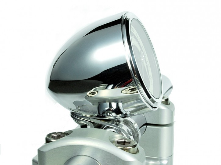 "Cup for Speedometer ""Streamline Cup"" by MOTOGADGET, aluminium, polished, for 1 inch handlebars"