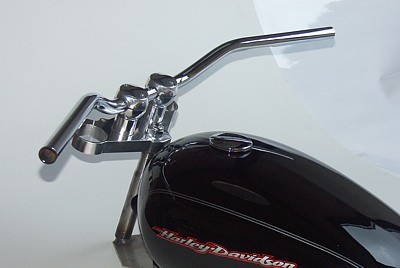 "HANDLEBAR ""roadster"" by LSL, 1 inch / 25,4 mm, steel, chrome plated, material report"