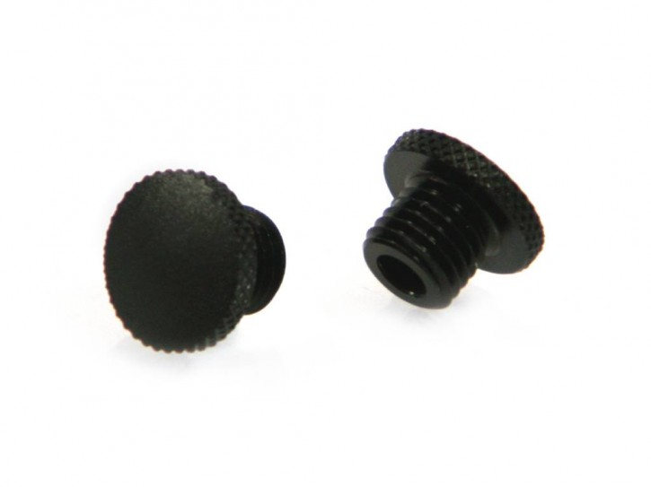 2 Screw Plugs for mirror threads M10x1,25mm