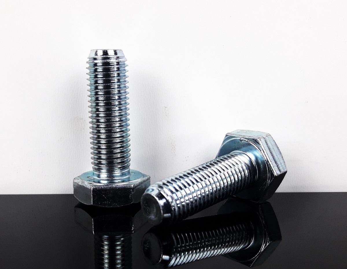 2 sechskantschrauben maschinenschrauben schrauben screws verzinkt m10 x 1 25mm ebay. Black Bedroom Furniture Sets. Home Design Ideas