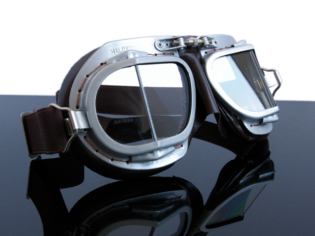motorradbrille halycon mark9 motorcycle goggles braun f. Black Bedroom Furniture Sets. Home Design Ideas