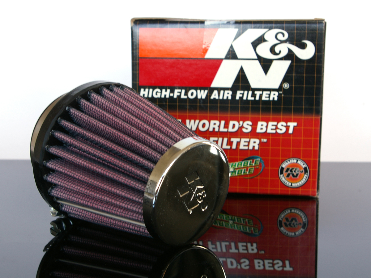 K/&N SPORTLUFTFILTER//Sport-Luftfilter 38-42mm FILTRO d/'aire//dell/'aria//AIR FILTER