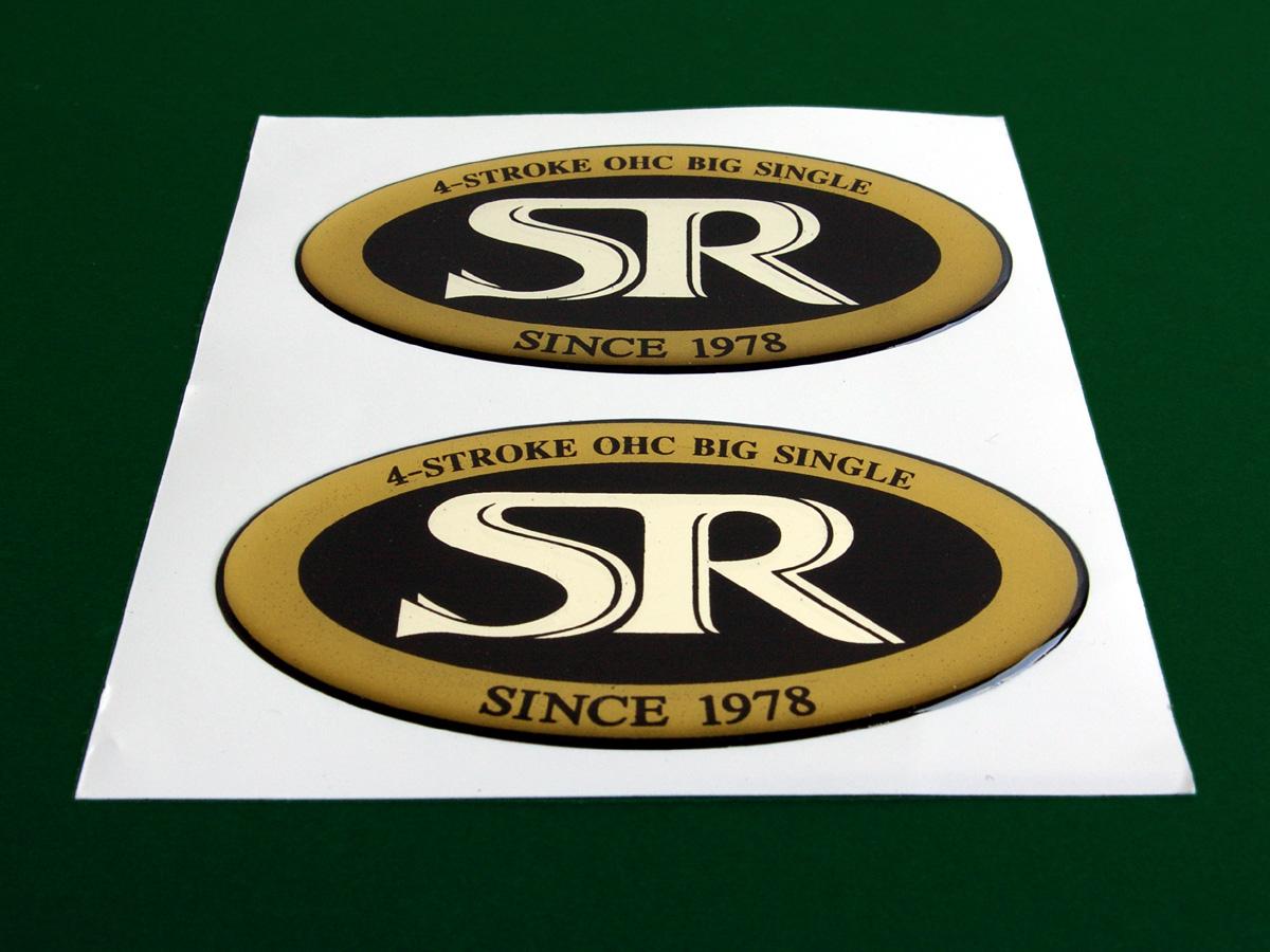 2 YAMAHA SR 400 500 SR500 Embleme AUFKLEBER Sticker Badges