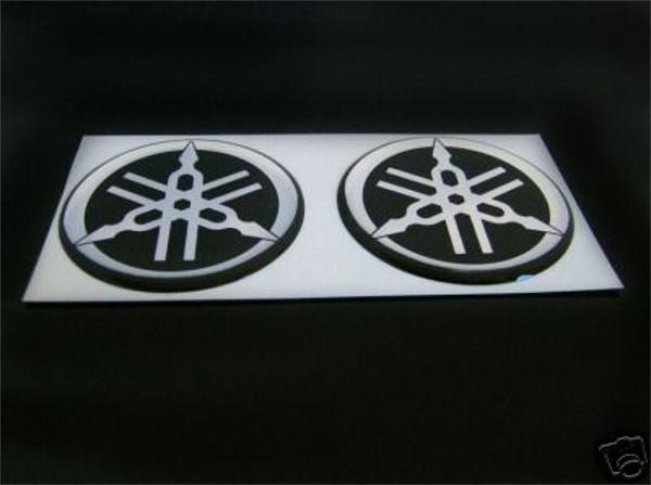 2 YAMAHA Logos LOGO SATZ Logosatz STIMMGABELN Aufkleber