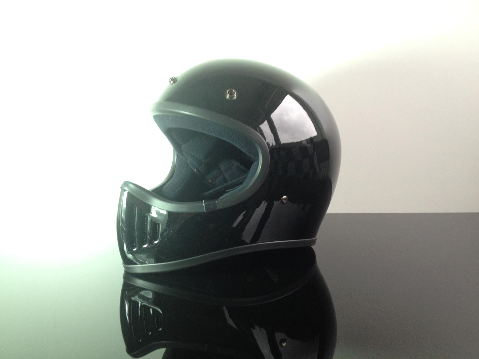 retro style cross helmet black dot approved l ch b l. Black Bedroom Furniture Sets. Home Design Ideas