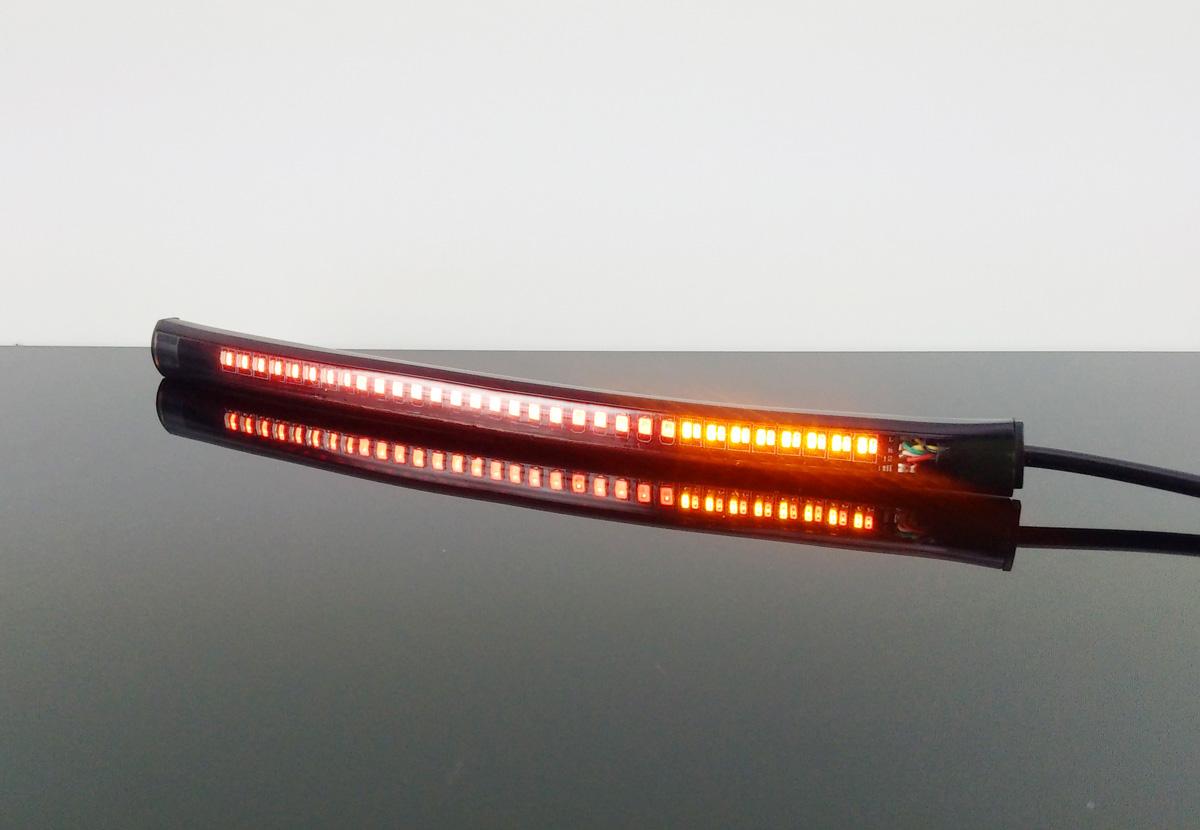 led r cklicht blinker taillight indicator flexibel universal ebay. Black Bedroom Furniture Sets. Home Design Ideas