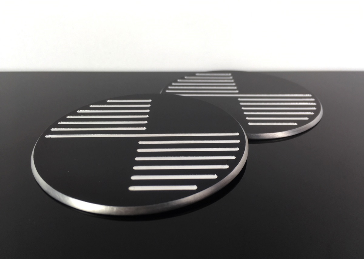 2 Badges Emblems Bmw 70mm Cnc Milled Ak Bb0