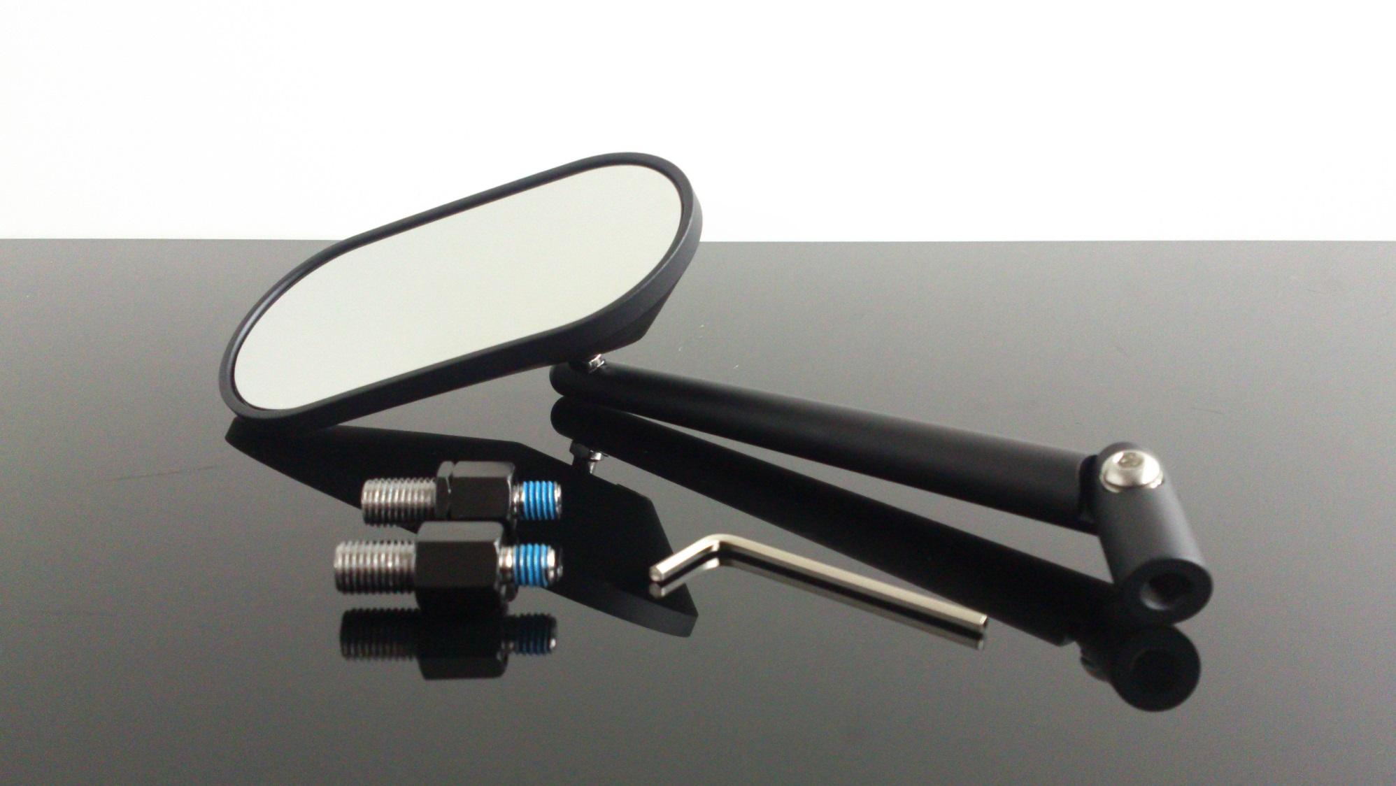 universal schwarz mit E-Nummer Spiegel Set Honda M10x1,25mm Rechts-//Linksgewinde f/ür Yamaha R/ückspiegel Suzuki Kawasaki