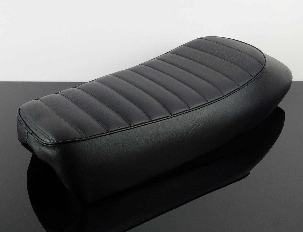 cafe racer sitzbank sitz seat bench selle banco banc schwarz black universal ebay. Black Bedroom Furniture Sets. Home Design Ideas