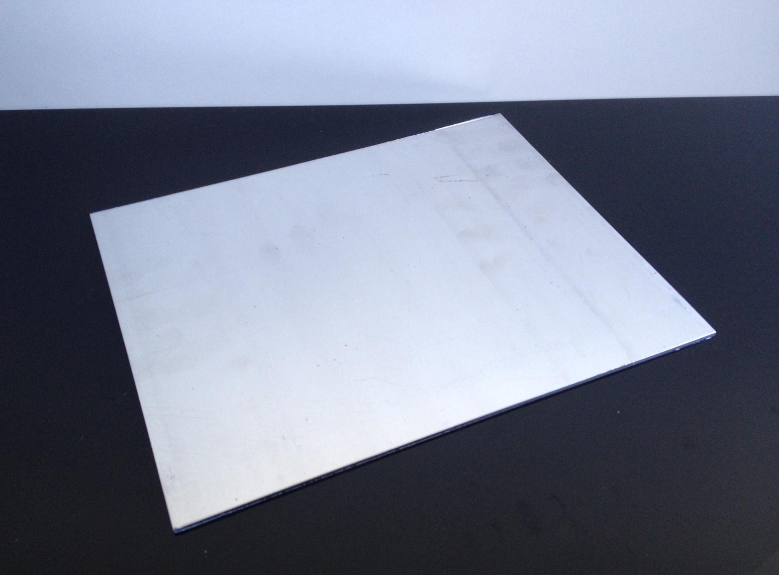 universal aluminium platte nummernschild verst rkung alloy plate 250x200x2mm 4893083151372 ebay. Black Bedroom Furniture Sets. Home Design Ideas