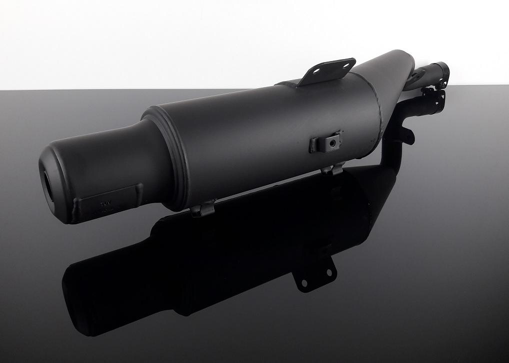 auspuff silencer exhaust von marving schwarz f r yamaha xt 500 xt500 mit t v ebay. Black Bedroom Furniture Sets. Home Design Ideas