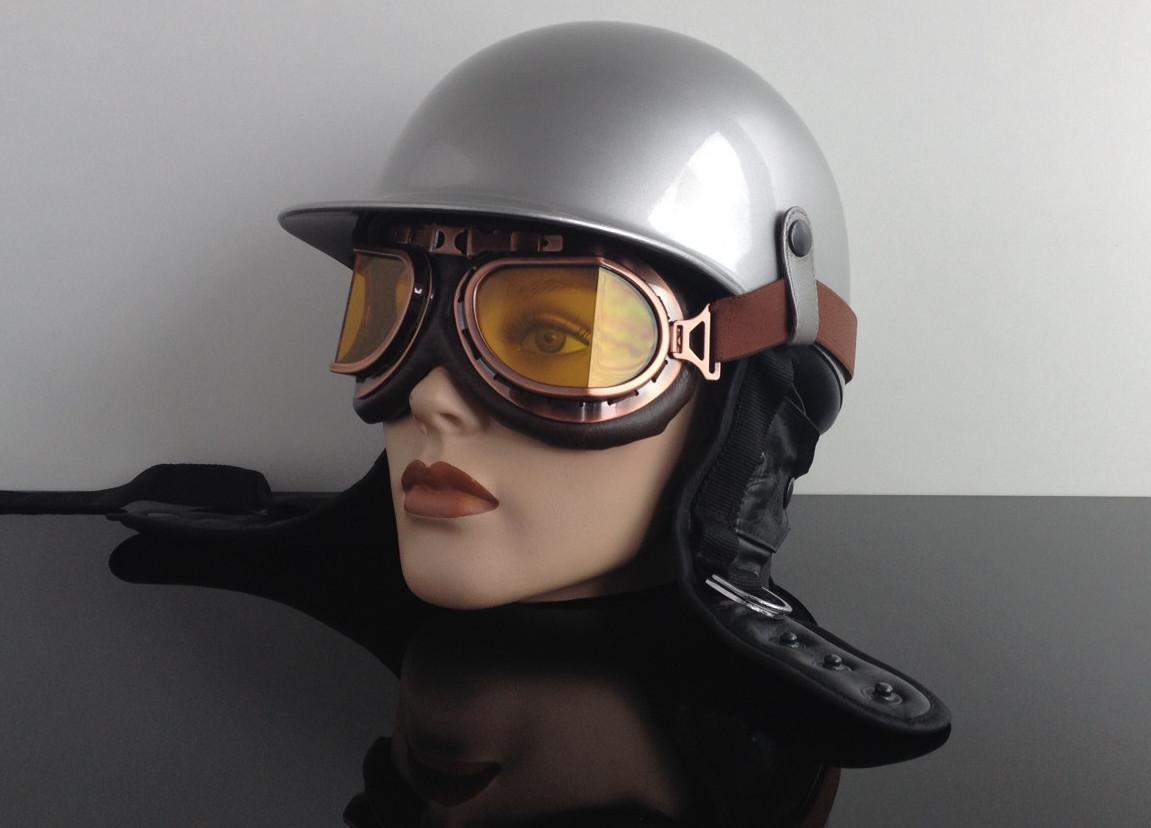 motorradbrille brille goggles glasses lunettes kupfer. Black Bedroom Furniture Sets. Home Design Ideas