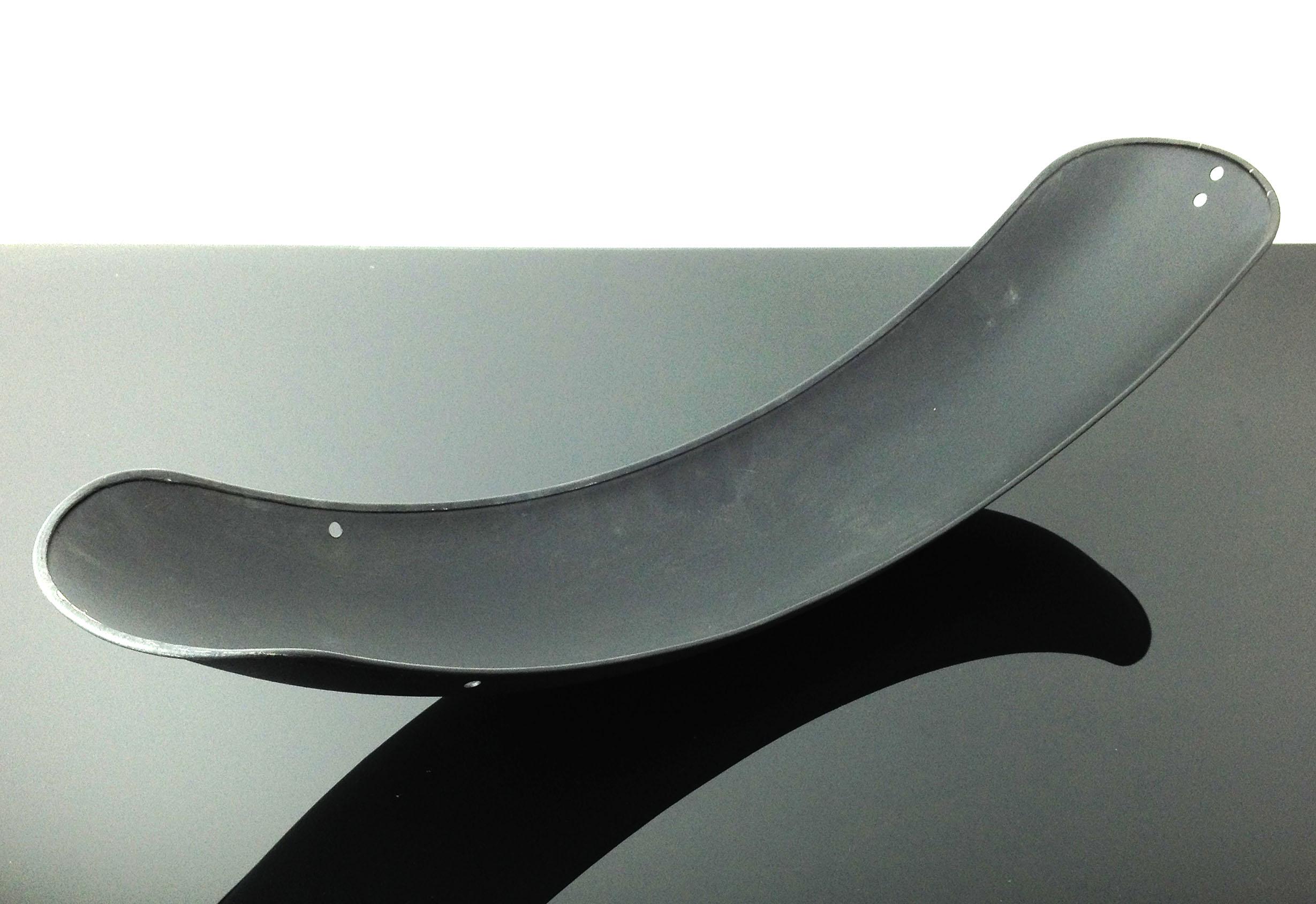 Cafe-Racer Kotflügel Schutzblech Rear Mudguard Fender Parafango 19 Zoll schwarz