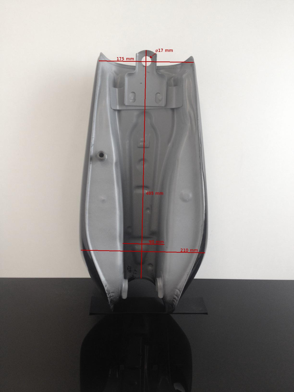 cafe racer tank motorradtank fuel gasoline tank r servoir schwarz universal ebay. Black Bedroom Furniture Sets. Home Design Ideas