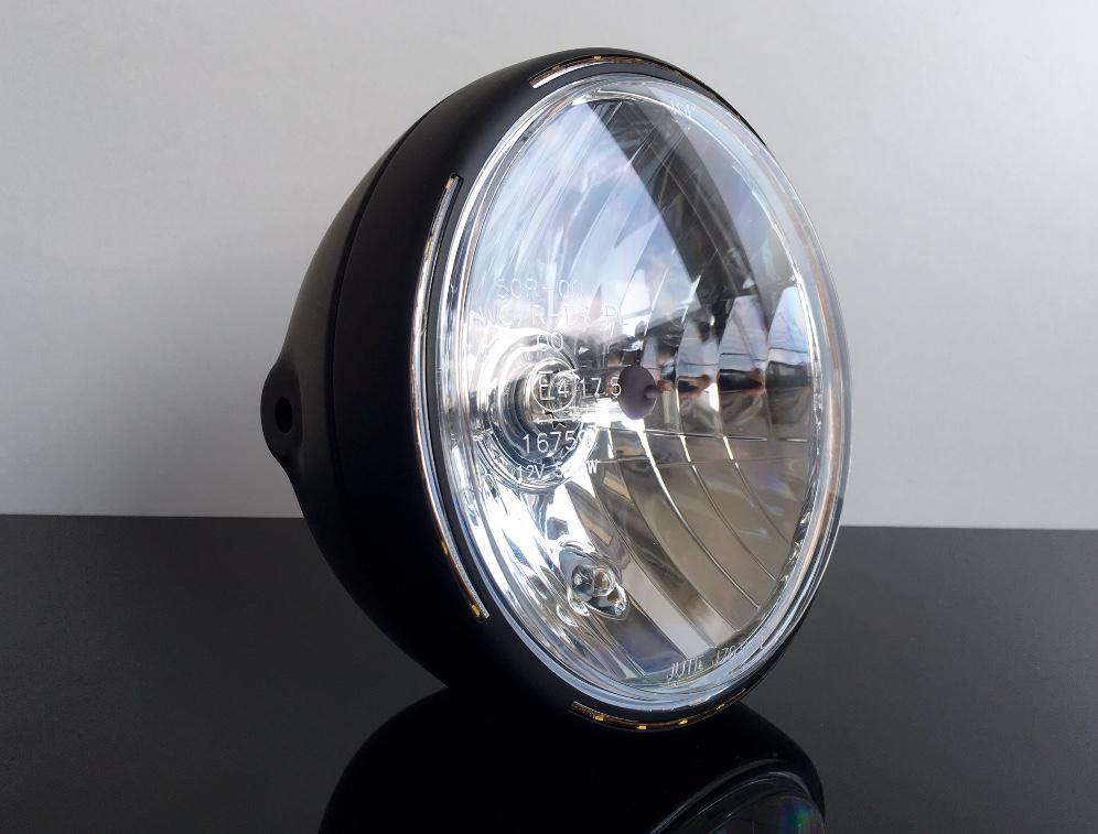 scheinwerfer matt schwarz mit led standlichtring. Black Bedroom Furniture Sets. Home Design Ideas