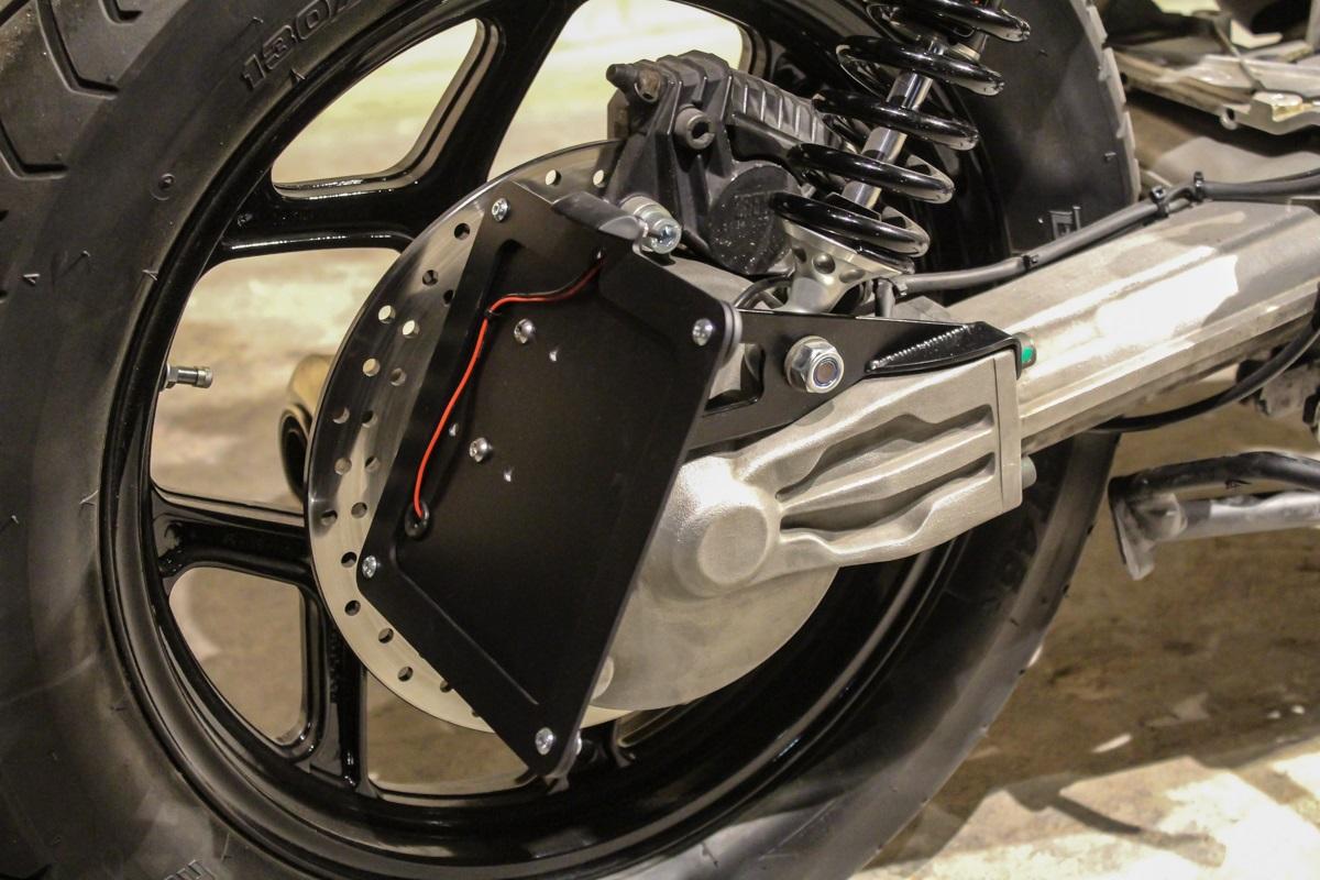 """Ram Mount Parts >> Side MOUNT LICENCE PLATE """"Nifty Number"""" by BHCKRT, f. BMW K75 u. K100, black-KE-K1S"""