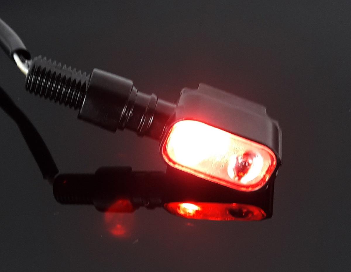 2 mini led blinker pair of indicators inkl r cklicht blacklight schwarz black ebay. Black Bedroom Furniture Sets. Home Design Ideas