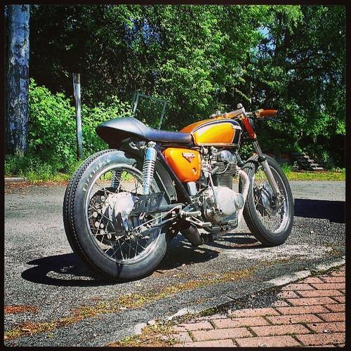 Cafe Racer Sitzbank Yamaha Sr500 Cb 250 350 K