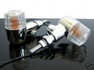 2 Mini-BLINKER indicators MINIBLINKER Chrom/weiss m.TÜV