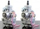 2x MIKUNI VM32 Rundschieber Vergaser, für getunte CB 250 / 350