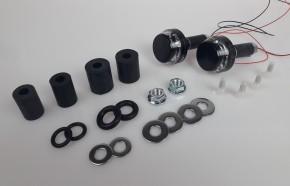 2 handlebar end Indicators, Motogadget m.blaze disc, black