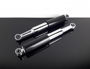 2 SHOCK ABSORBERS / damper / shocks, 340mm, moped