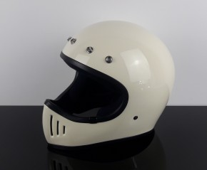 Retro-style Enduro- / Cross-HELMET, ivory white, DOT approved