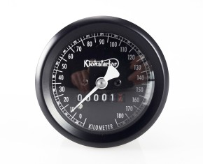 Tachometer, KICKSTARTER-Edition SMITH-Style, schwarz, 60mm, K=1,4