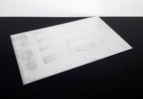 SITZBANKGRUNDPLATTE aus Aluminiumblech, universal, 500x300x4mm