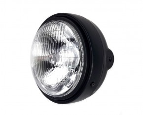 Classic head light / headlamp, semi-dull black