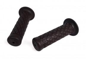 2 Griffe, GRIFFGUMMIS, Westwood Style, dunkelbraun, f. 22mm Lenker