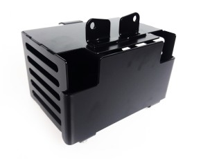BATTERY BOX f. BMW R65 / R80 / R100, stainless steel, black