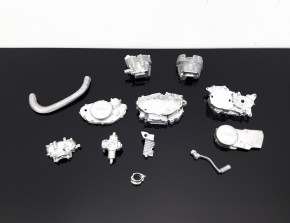 Mini model / construction kit of YAMAHA SR 500 motor, zinc diecasting