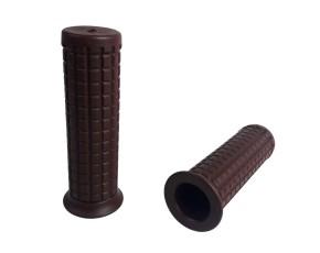 """2 GRIPS, Custom- / Old-Style, dark brown, f. 1"""" handlebars"""
