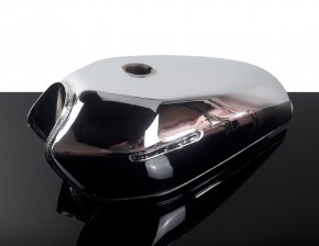 GAS TANK, universal, 9 litre, chrome plated