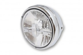 "LED-HEADLIGHT by Highsider, chrome plated, ""E""-marked"