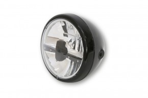 "LED-HEADLIGHT by Highsider, black, ""E""-marked"