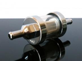 BENZINFILTER, Glas/Chrom fuel-filter/FILTRO 6mm NEU.