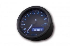 Drehzahlmesser/Speedo 60mm, elektrisch, bis 18.000 RPM/SCHWARZ, black