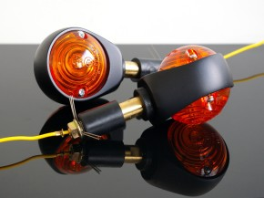 Pair of bar end INDICATORS, black