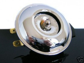HORN, chromed, 6V